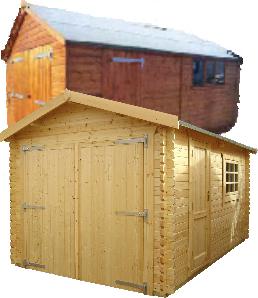 timber garages and workshops from garageworld and haydock buildings - Garden Sheds Haydock